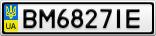 Номерной знак - BM6827IE