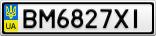 Номерной знак - BM6827XI