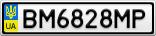 Номерной знак - BM6828MP