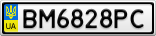 Номерной знак - BM6828PC
