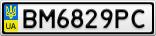 Номерной знак - BM6829PC