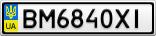 Номерной знак - BM6840XI