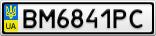 Номерной знак - BM6841PC