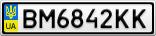 Номерной знак - BM6842KK