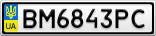 Номерной знак - BM6843PC