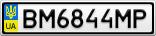 Номерной знак - BM6844MP