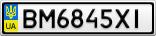 Номерной знак - BM6845XI
