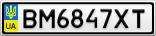 Номерной знак - BM6847XT