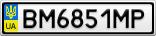 Номерной знак - BM6851MP