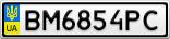 Номерной знак - BM6854PC