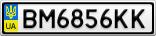 Номерной знак - BM6856KK