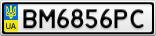 Номерной знак - BM6856PC
