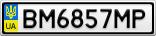 Номерной знак - BM6857MP