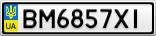 Номерной знак - BM6857XI