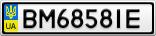 Номерной знак - BM6858IE