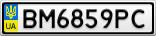 Номерной знак - BM6859PC