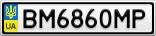 Номерной знак - BM6860MP