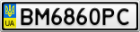 Номерной знак - BM6860PC