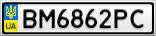Номерной знак - BM6862PC