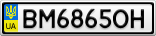 Номерной знак - BM6865OH