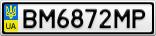 Номерной знак - BM6872MP