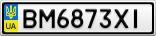 Номерной знак - BM6873XI