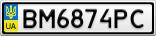 Номерной знак - BM6874PC