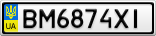 Номерной знак - BM6874XI