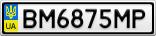 Номерной знак - BM6875MP