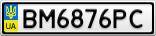 Номерной знак - BM6876PC
