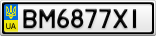 Номерной знак - BM6877XI