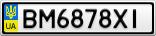 Номерной знак - BM6878XI