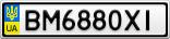 Номерной знак - BM6880XI