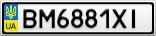 Номерной знак - BM6881XI