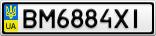 Номерной знак - BM6884XI