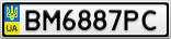 Номерной знак - BM6887PC