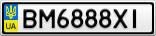 Номерной знак - BM6888XI