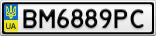 Номерной знак - BM6889PC