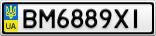 Номерной знак - BM6889XI