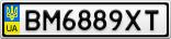 Номерной знак - BM6889XT