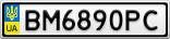 Номерной знак - BM6890PC