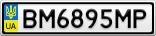 Номерной знак - BM6895MP
