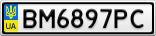 Номерной знак - BM6897PC