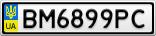 Номерной знак - BM6899PC