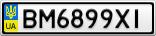 Номерной знак - BM6899XI