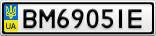 Номерной знак - BM6905IE