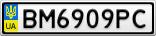 Номерной знак - BM6909PC