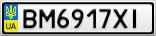 Номерной знак - BM6917XI