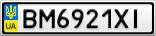 Номерной знак - BM6921XI