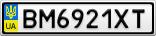Номерной знак - BM6921XT